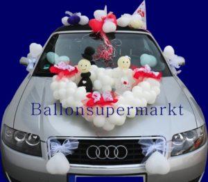 Autodekoration-Hochzeit