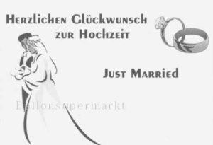 Ballonflugkarte- just -married