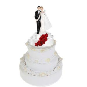 Brautpaar-hochzeitsfigur-tortenfigur-hochzeit-mit-rosen