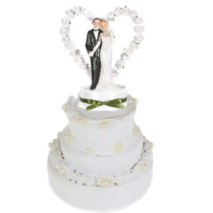 Brautpaar-hochzeitsfigur-tortenfigur-hochzeit-rosenherz-weiß