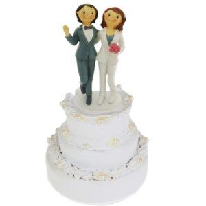 Brautpaar-hochzeitsfigur-tortenfigur-hochzeit-zwei-frauen