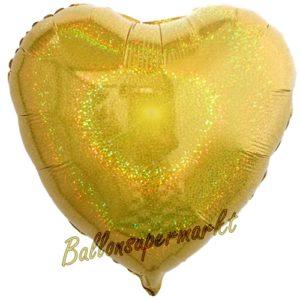 Folienballon-Deko-Herz-45-cm-Gold-holografisch-Luftballon-Geschenk-Hochzeit-Geburtstag-Dekoration