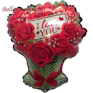 Folienballon-I-Love-You-Rosenbouquet-Luftballon-Shape-Geschenk-Liebe-zum-Valentinstag