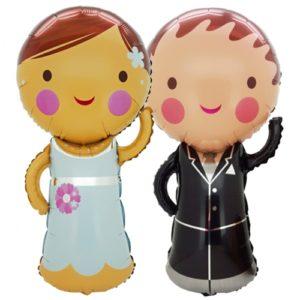 Folienballons-Braut-und-Braeutigam-Luftballon-Shape-Hochzeit-Hochzeitsdekoration-Geschenk-im-Karton