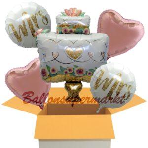 Folienballons-im-Karton-Mrs-Mrs-rund-Hochzeitstorte-Herzen-rosegold-zur-lesbischenen-Hochzeit-Dekoration-Hochzeitsgeschenk