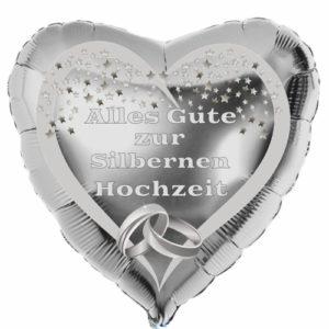 Herzluftballon-Silber-Alles-Gute-zur-Silbernen-Hochzeit-mit-Ballongas