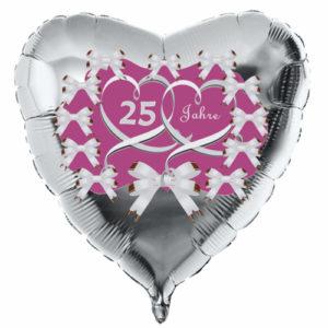 Herzluftballon-Silber-Silberne-Hochzeit-25-Jahre-mit-Ballongas