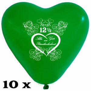Herzluftballons-zur-Petersilienhochzeit-gruen-28-30-cm-10-Stueck