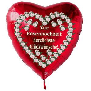Zur-Rosenhochzeit-herzlichste-Glueckwuensche-Luftballon-aus-Folie-in-Herzform