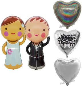 silberne- Hochzeit-ballons